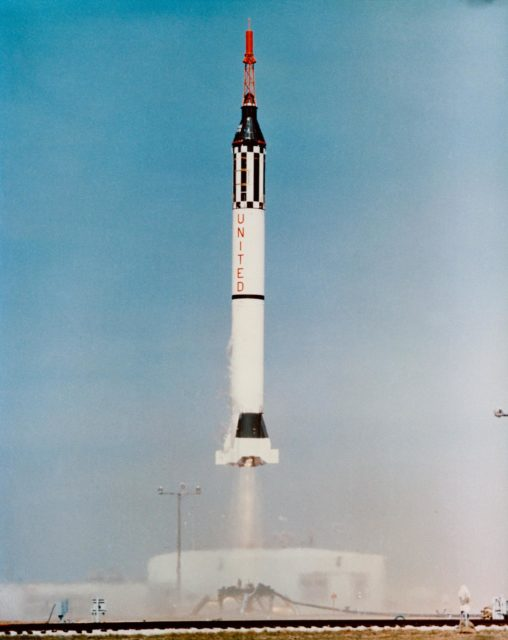 LIFTOFF - MERCURY-REDSTONE (MR)-1A - CAPE