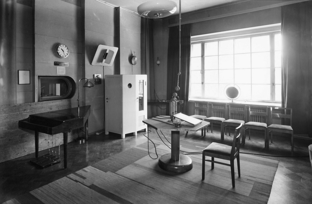 A radio drama studio during Finland's Continuation War, 1944.