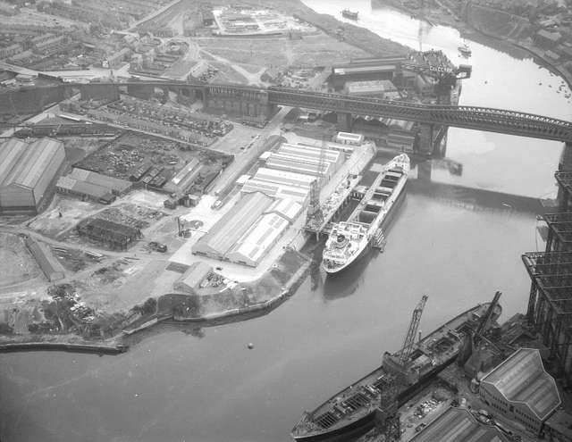 Aerial view of the Southwick Yard of Austin & Pickersgill Ltd