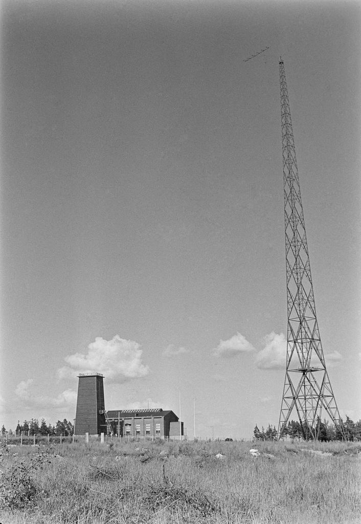 Lahti longwave transmitter and radio station, 1936.