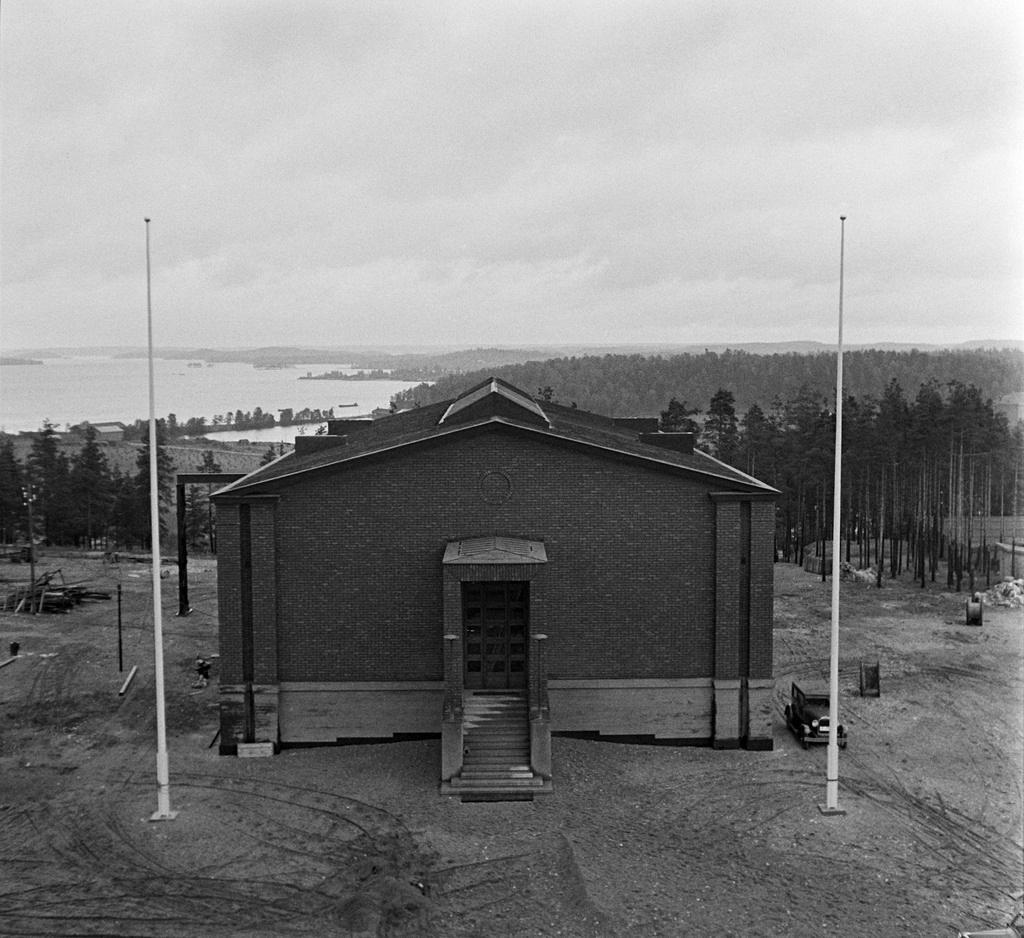Lahti radio station, building, 1935.