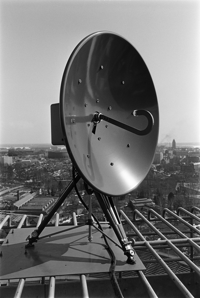 RCA's microwave link on top of the Helsinki Olympic Stadium Tower