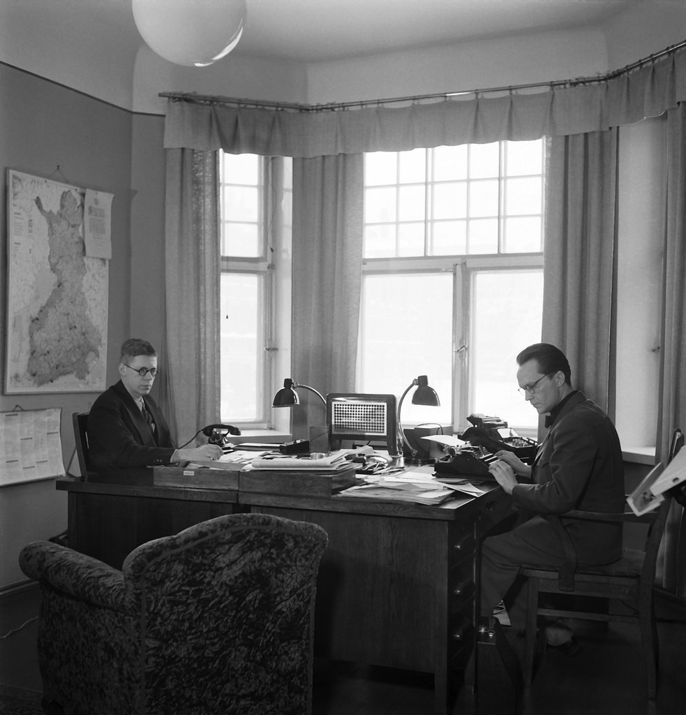 """The """"propaganda department"""" (later PR department) of the Finnish Broadcasting Company, 1930s."""