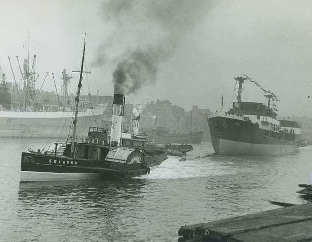 The tug boat 'Seaburn' towing the 'Tanea'