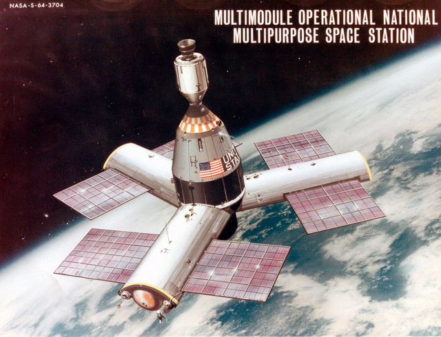 Three-Radial-Module Space Station Concept