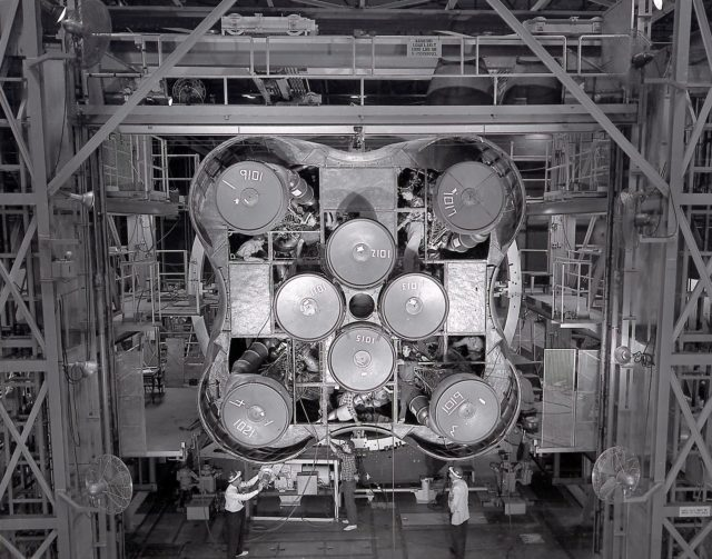 Saturn I S-I stage with eight H-1 engines - Saturn Apollo Program
