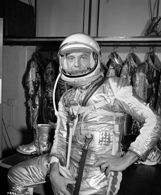 Closeup View - Astronaut Alan Shepard - Pressure Suit - Mercury-Redstone ( MR)-3 Flight