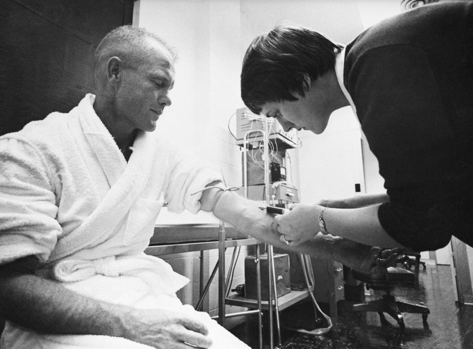 Astronaut John Glenn - Blood Draw - Training - Cape