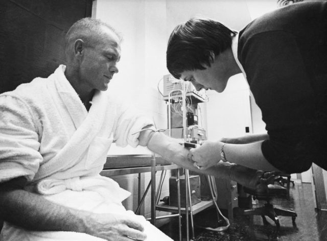 Astronaut John Glenn - Blood Draw - Training - Cape