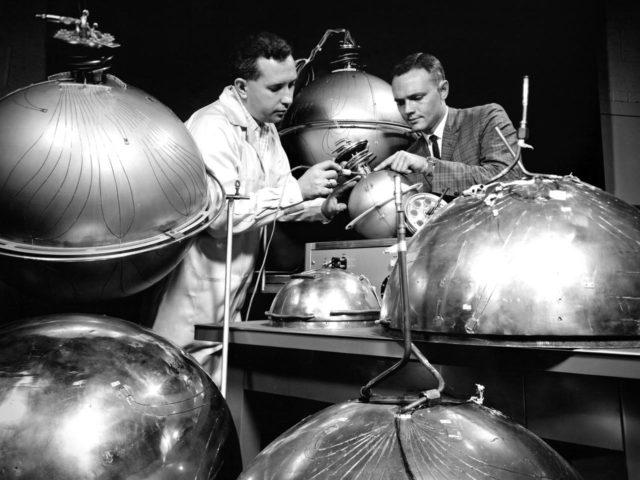 NASA Engineer and Technician Instrument Zero Gravity Spheres