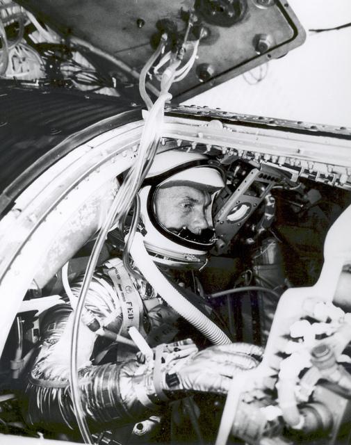 Astronaut John Glenn Undergoes Simulated Orbital Flight Training