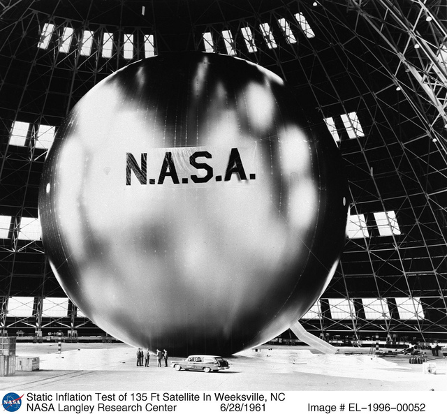 Inflation Test of 135 Ft Satellite In Weeksville, NC