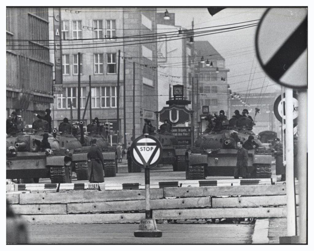 Soviet Tanks near Checkpoint Charlie