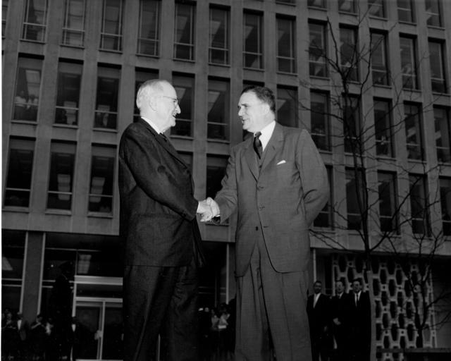 Truman and Webb at NASA Headquarters