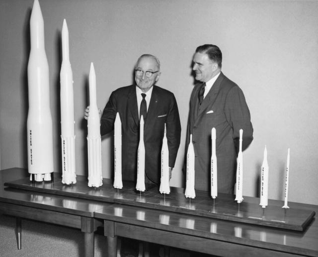 Truman Receives Rocket Models