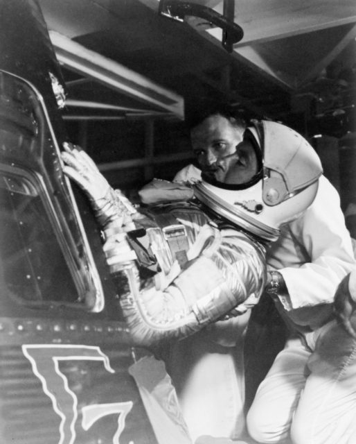 "Astronaut Walter Schirra - Assisted - Sigma ""7"" Spacecraft - Cape"