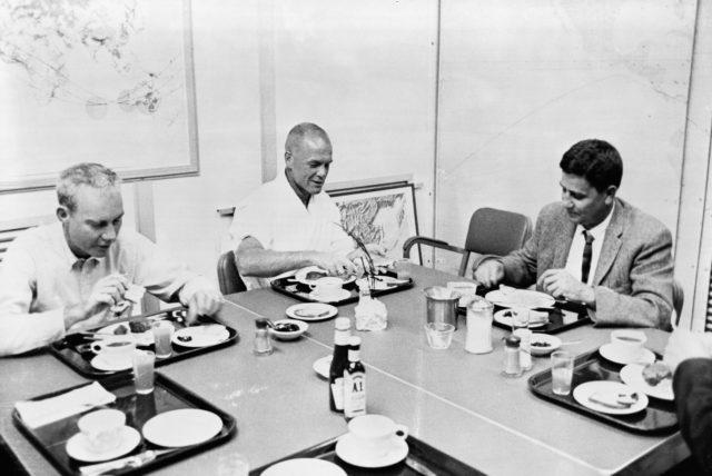 Astronaut John Glenn at preflight breakfast