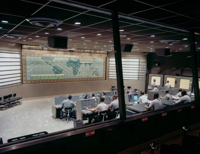 View of Mercury Control Center prior to MA-8 flight