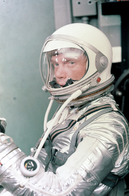 Glenn Suits-Up for Launch