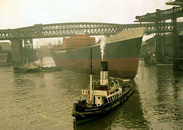 Launch of the cargo ship 'Houston City'