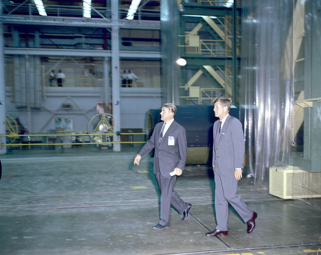 President Kennedy Tours Marshall with von Braun