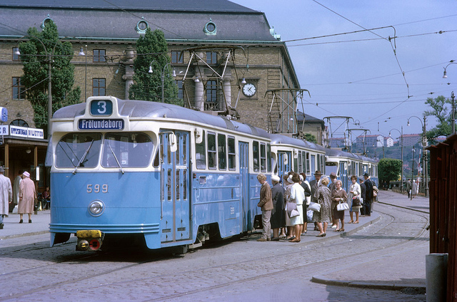 Tram in Gothenburg in 1962