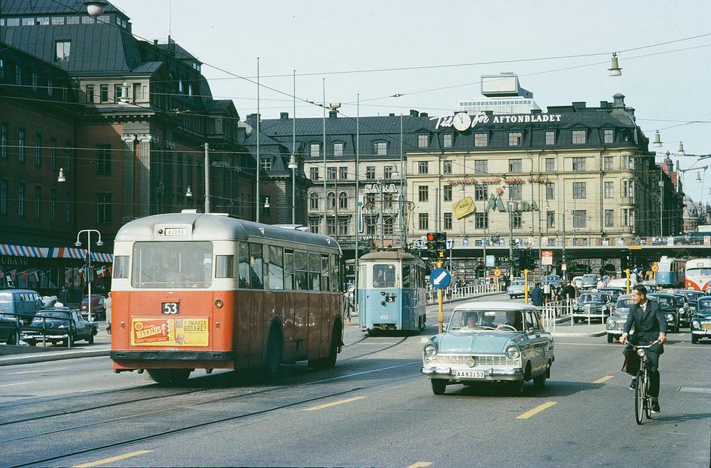 Vasagatan In Stockholm 1962 Picryl Public Domain Image