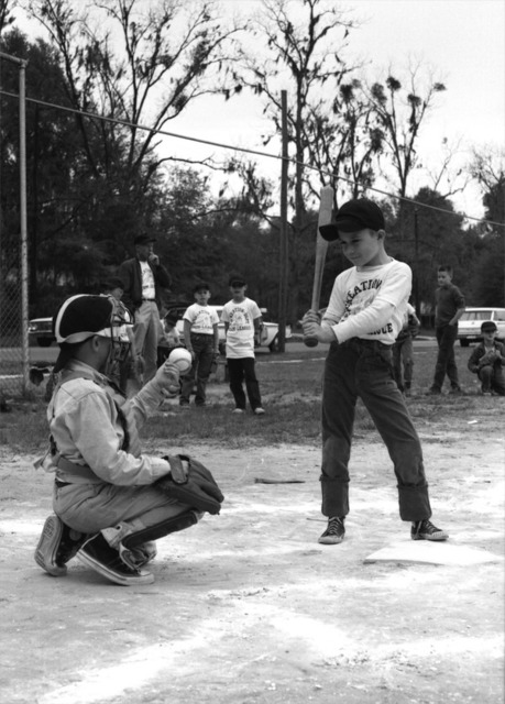 Youth baseball game in Tallahassee, Florida