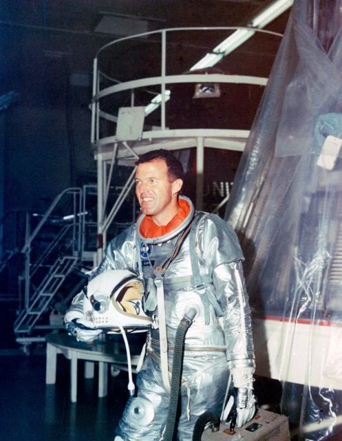 ASTRONAUT COOPER, L. GORDON, JR. - MERCURY-ATLAS (MA)-9 - PREFLIGHT TESTING - CAPE