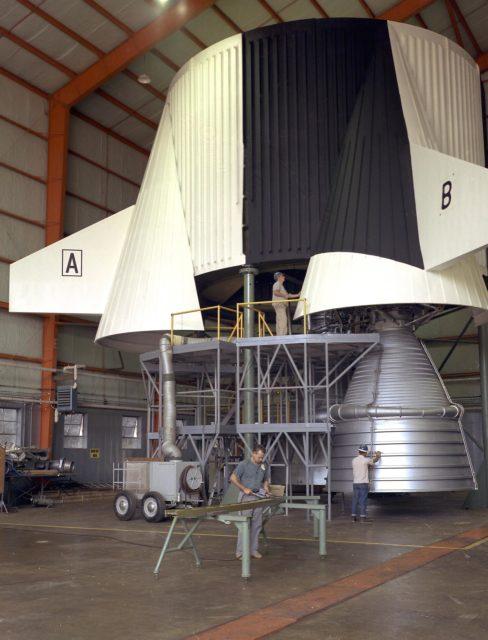 Full scale engineering mock-up of Saturn V - Saturn Apollo Program