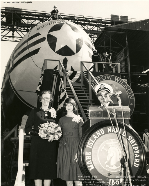 USS Woodrow Wilson Launching Ceremony