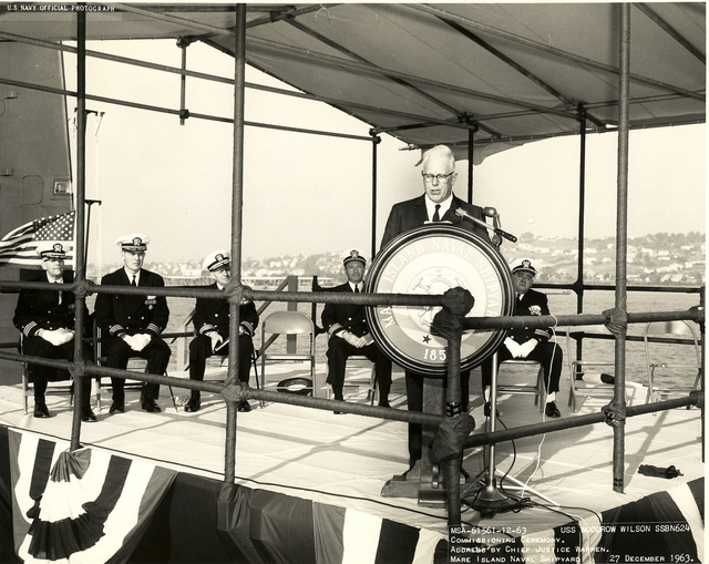 USS Woodrow Wilson Commissioning Ceremony