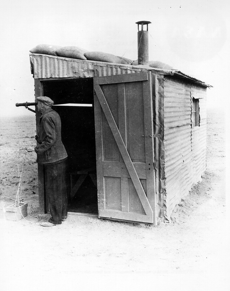 Dr. Robert H. Goddard at His Launch Control Shack