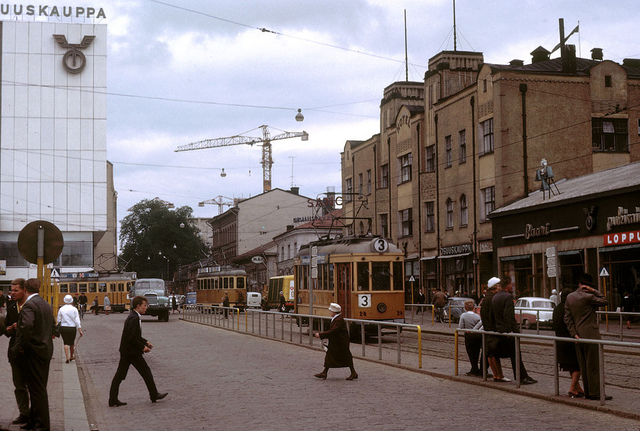 Trams in Åbo, Finland 1963