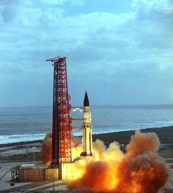 The launch of the SA-5 - Saturn I - Saturn Apollo Program