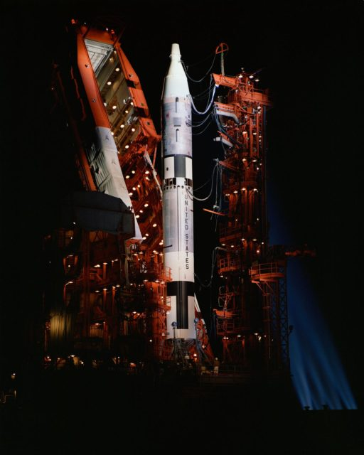 GEMINI-TITAN (GT) (LOWERED) - LAUNCH VEHICLE - UMBILICAL TESTS -  PAD 19 - CAPE