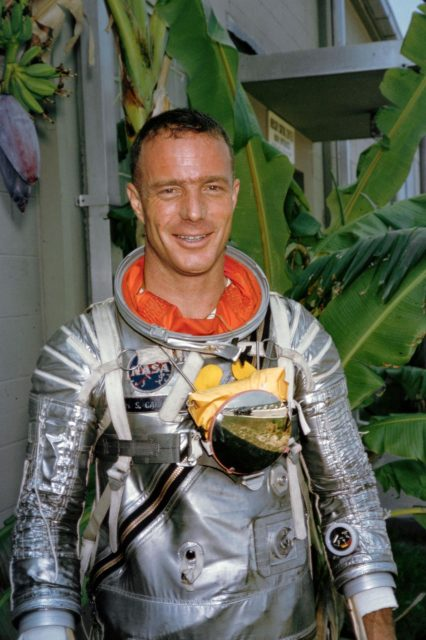 Scott Carpenter in Mercury pressure suit
