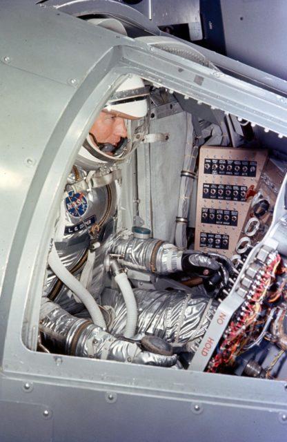 Astronaut Gordon Cooper, Jr. - Preflight Simulation Training - Cape