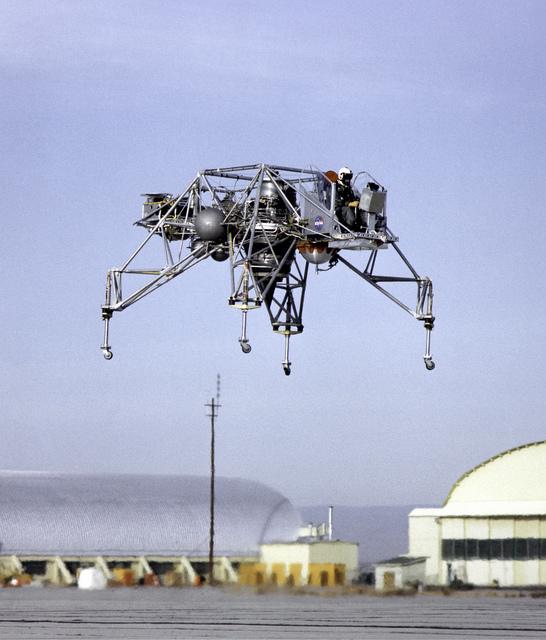 Lunar Landing Research Vehicle in Flight
