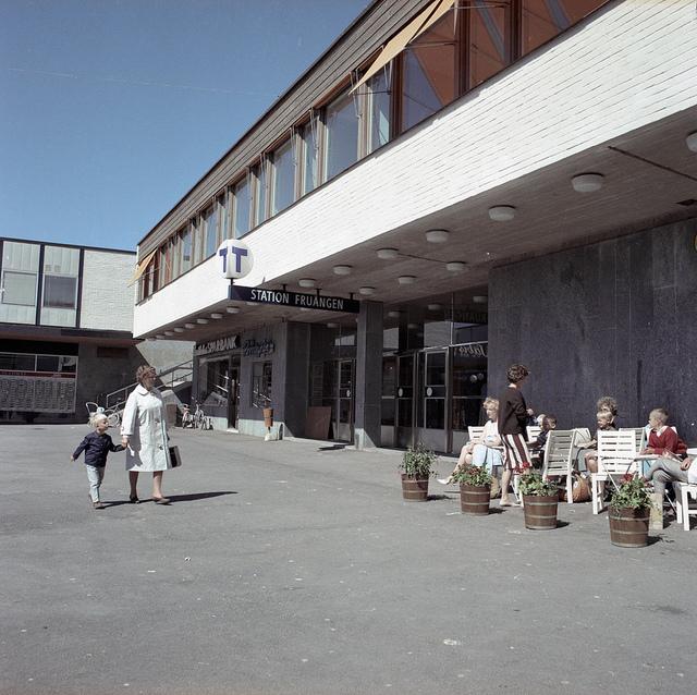 Subway station Fruängen in Stockholm in 1964