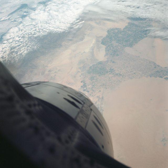 GEMINI-TITAN (GT)-3 - EARTH- SKY VIEW