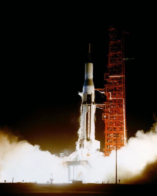 First night launch of a Saturn I launch vehicle