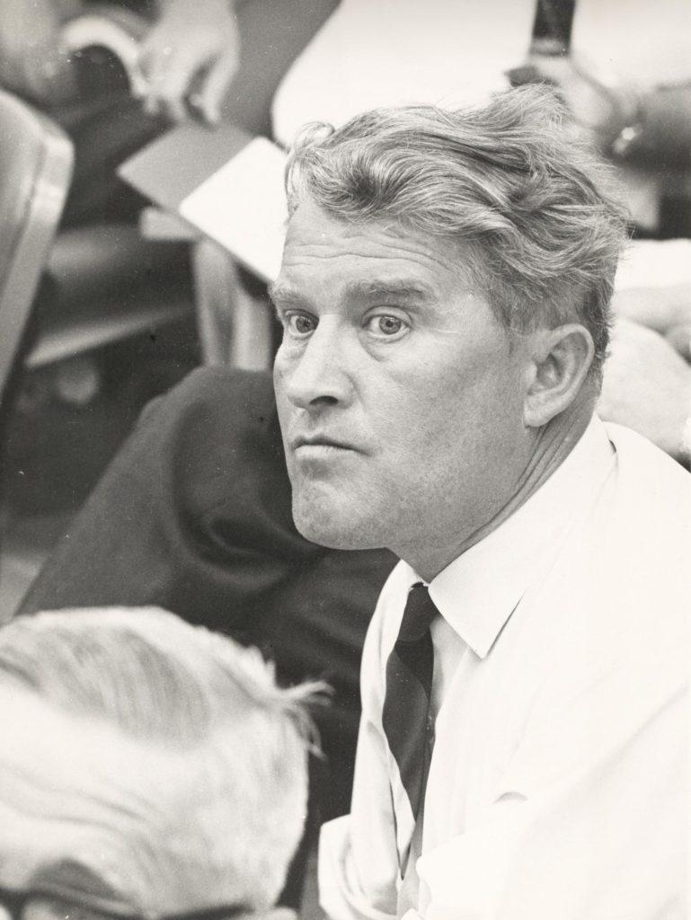 Wernher Von Braun Awaits The Launch Of The Saturn I Vehicle