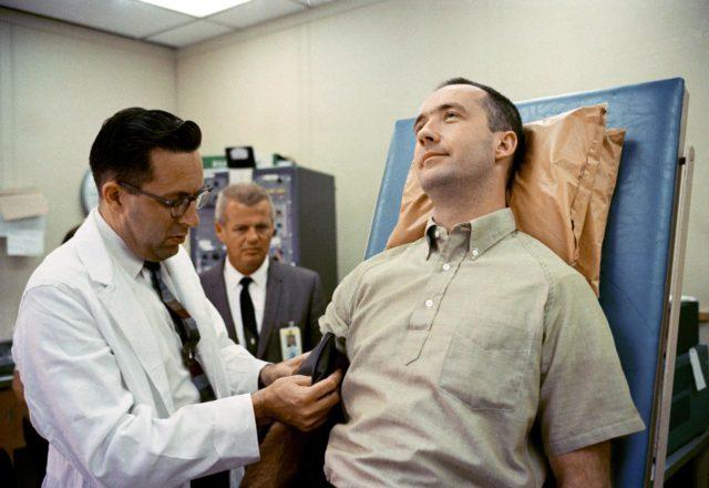 Astronaut McDivitt - Blood Pressure Check - Preflight Examination - Merritt Island, FL