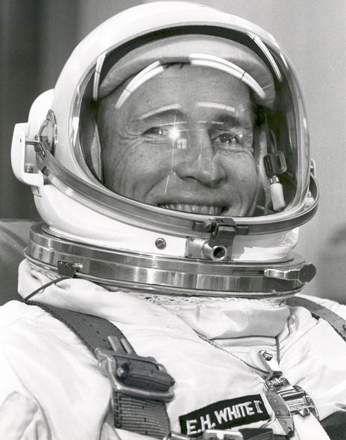 Astronaut Edward White Ready For Gemini IV Liftoff