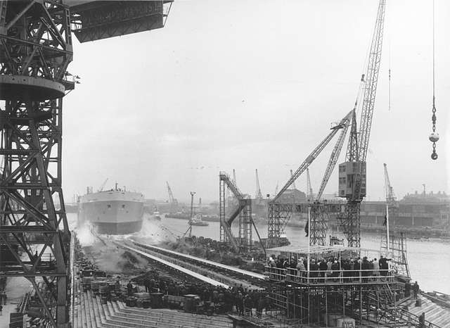Launch of the tanker 'North Sands'