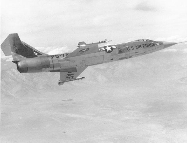 Lockheed F-104A 56-0737 HQ ADC Colorado Springs [USAF via TJF]