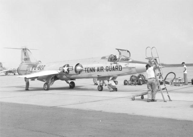 Lockheed F-104A 56-0822 13th FG TN ANG [USAF via RJF]