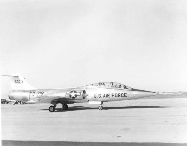 Lockheed F-104B 56-3719 [mfr AL 19729 via RJF]