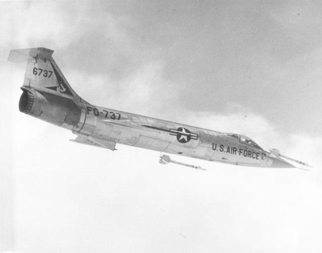 Lockheed F-104C 56-0737 Tyndall AFB 14Aug59 [USAF via RJF]